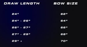 This is an Image of Draw Length & Bow Size