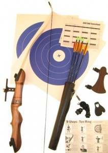This is an Image of Ragim Wildcat Takedown Recurve Bow Complete Arhcery Set