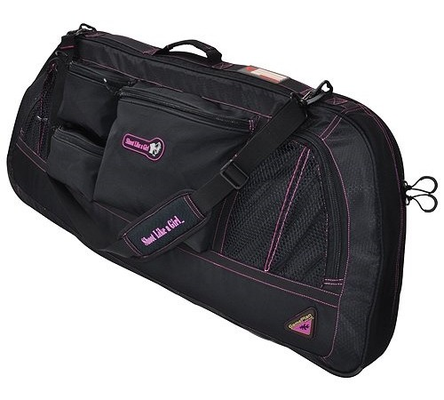 GamePlan Shoot Like A Girl Bow Case, 40-Inch, Black/Magenta
